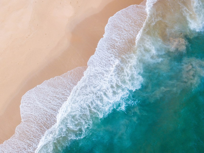 Beach from above - Franzi Photography