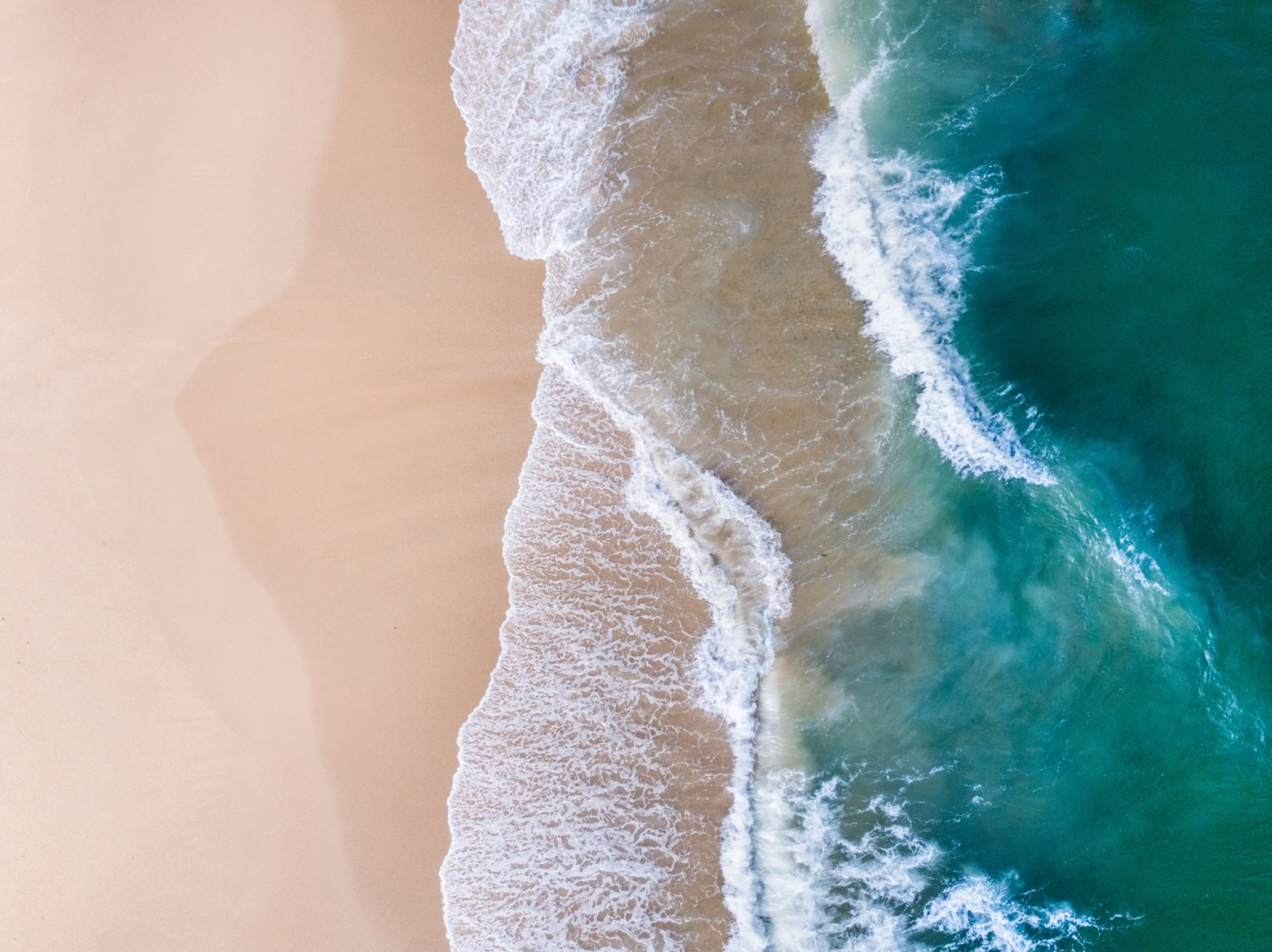 Beach Aerial, Red Rock - Franzi Photography