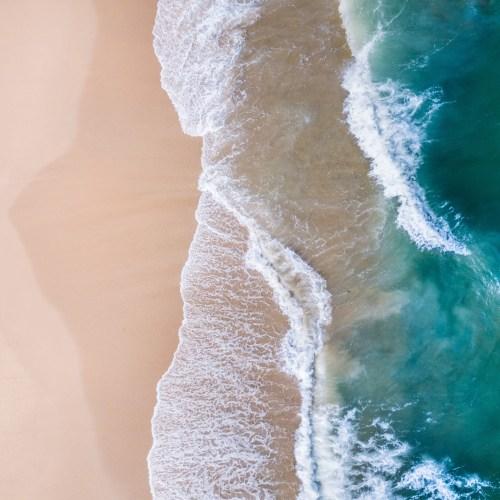 Beach Aerial, Red Rock - Franzi Photography