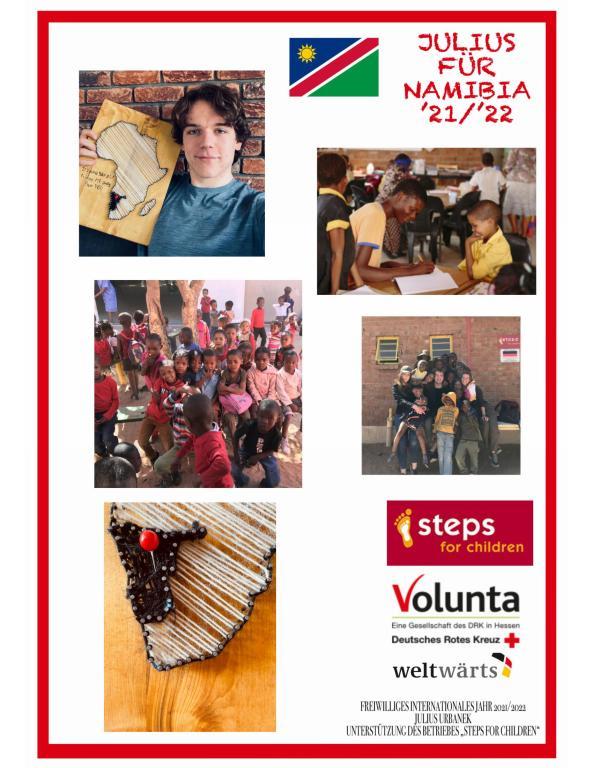 Julius Urbanek lädt die Schulgemeinschaft und alle Interessierten dazu ein, ihn bei seinem Freiwilligen Internationalen Jahr in Gobabis (Namibia) zu verfolgen und bereits im Vorfeld zu unterstützen. .