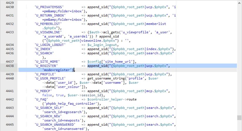 Cambiar link de registro en phpBB