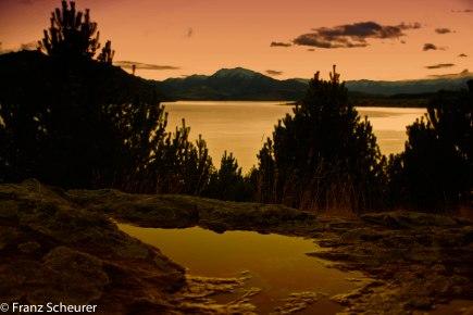 Whare Kea Lodge at Dawn
