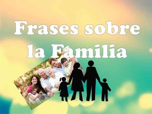 Frases sobre familia