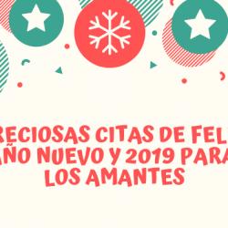 Preciosas citas de feliz año nuevo y 2019 para los amantes