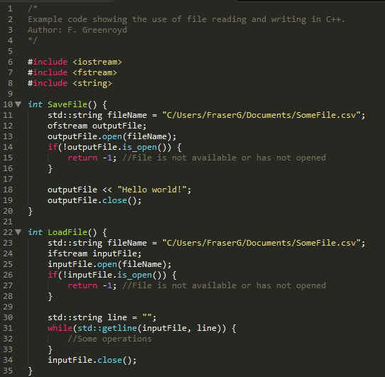 C++ FileIO example
