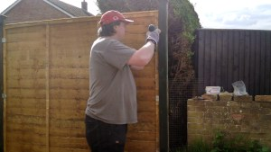 Rebuilding the back fence
