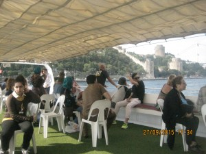 The boat cruise around Istanbul