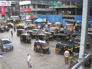 A lot of Tuk-Tuks parked - most are blocking each other in!