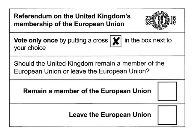 The poll card issued on the 23rd June