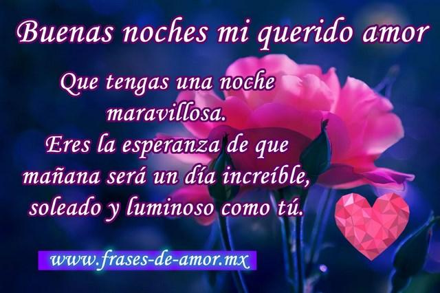 Frases Cortas De Buenas Noches Mi Amor