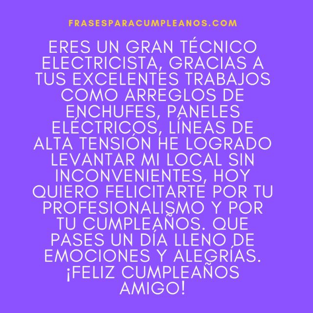Tarjetas de Felicitaciones cumpleaños para un electricista