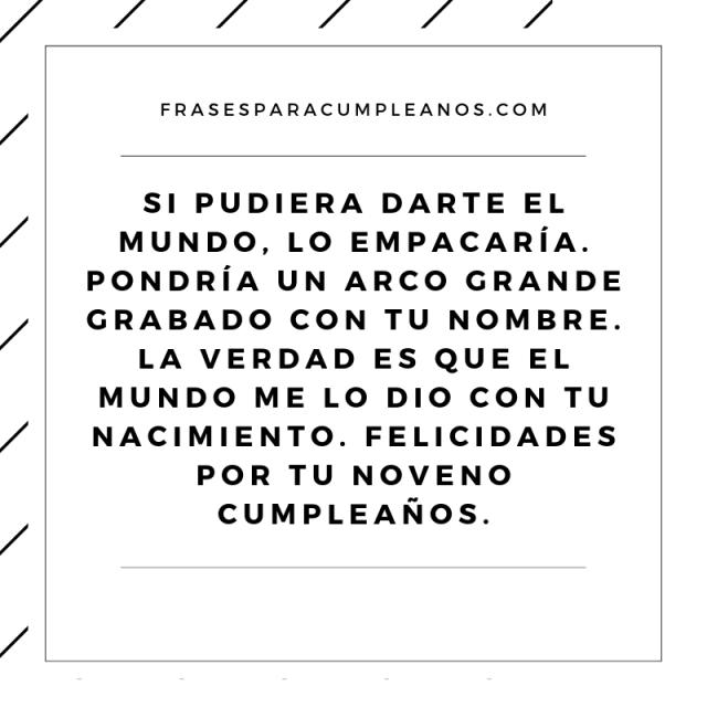 Tarjetas Felicitaciones de cumpleaños 9 años