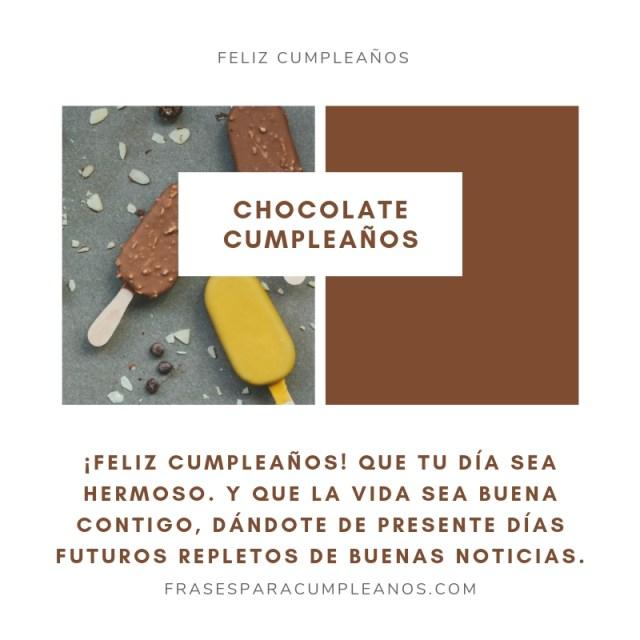 Imágenes de felicitaciones de cumpleaños con chocolate