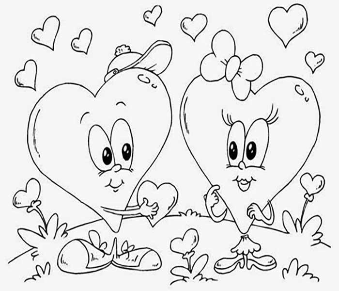 Dibujos De Amor Bonitos Dibujos Para Colorear