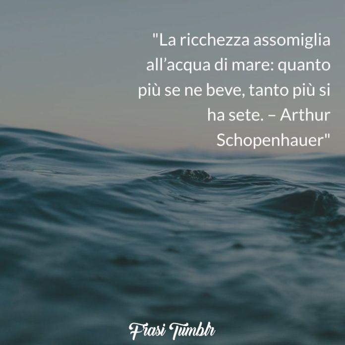 ricchezza acqua mare Schopenhauer