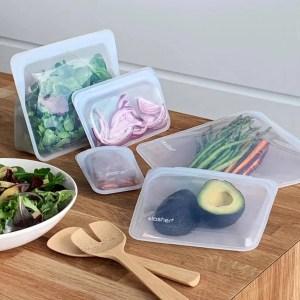 Bolsa reutilizable para congelar, transportar y cocinar al microondas STASHER