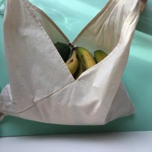 Bolsa reutilizable de algodón ecológico certificado- estilo japonés