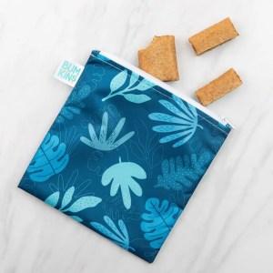 Bolsa reutilizable para snack -Tropical Blue BUMKINS