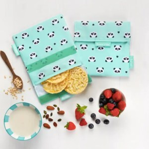 Bolsa reutilizable para snack- con dibujos de pandas ROLL'EAT
