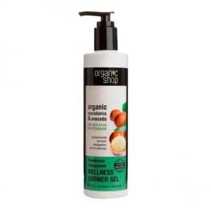 Gel de ducha nutritivo con aceite de macadamia y aguacate orgánicos ORGANIC SHOP