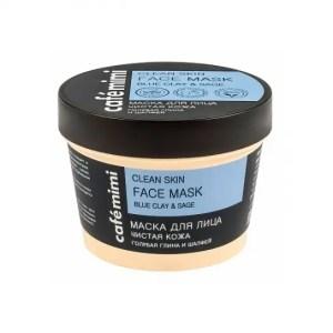 Mascarilla facial natural con arcilla azul- para pieles grasas CAFÉ MIMI