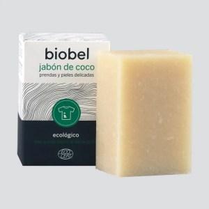 Pastilla de jabón natural quitamanchas para prendas- pieles delicadas BIOBEL