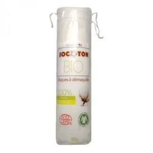 Discos desmaquillantes de algodón orgánico BOCOTON