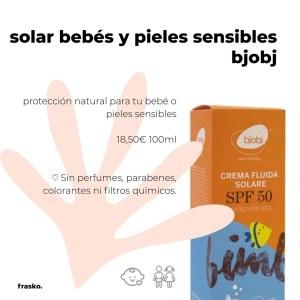 protector solar bebe infantil natural bjobj SPF50