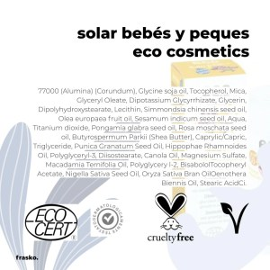 Protector solar 50 bebe infantil ECO COSMETICS