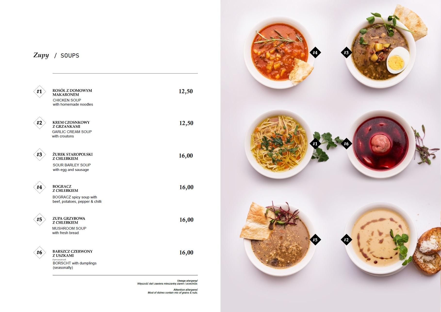 zupy menu fratelli sossi