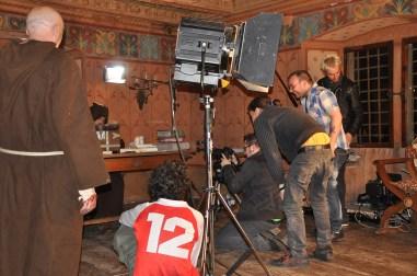 Scatto durante le riprese al castello Tour de Villa