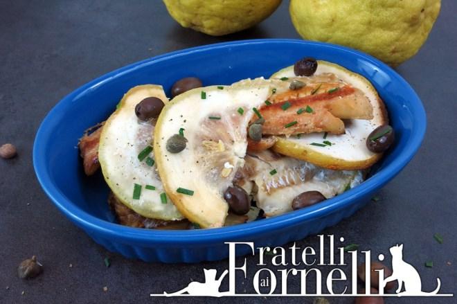 pollack cedro miele olive e capperi