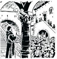 St François prêchant