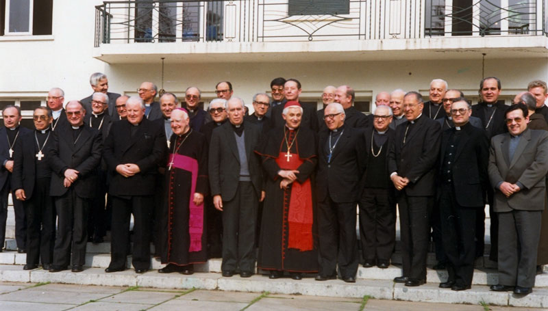 Cardeal Ratzinger e bispos do Chile - 13 de julho de 1988