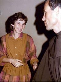 Vlasic e uma das videntes, Marija Pavlović, nos anos 80.