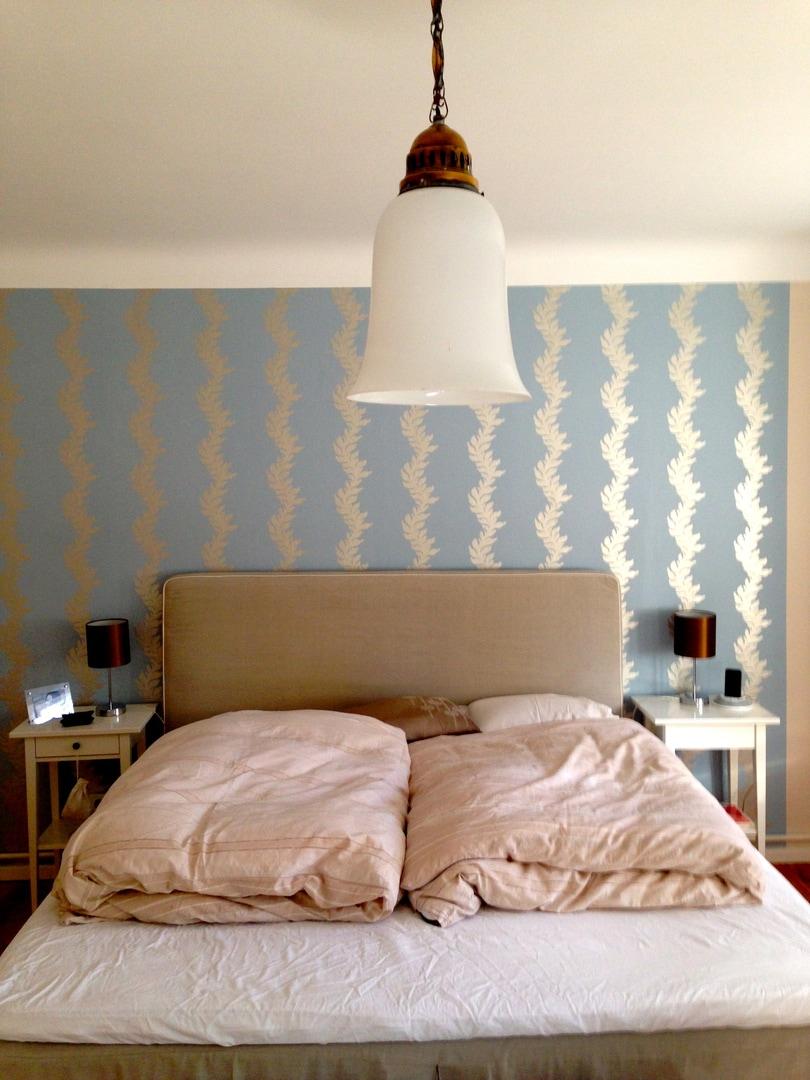Pimp my Schlafzimmer: Wanddekoration mit Tapete - Der ...