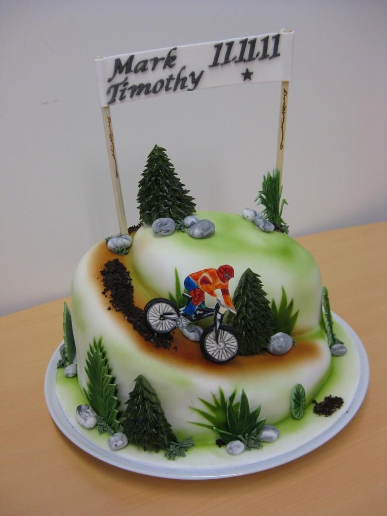 Torte Radfahrer