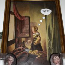 Gemälde mit Rahmen