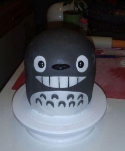 Totoro Gesicht und Bauch fertig