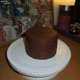 kleine Torte mit Ganacheüberzug