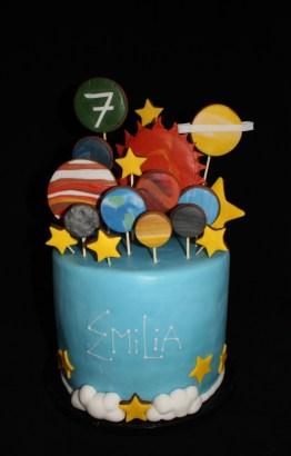 Torte Sterne Planeten Emilia 7. Geburtstag