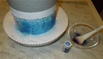 CakeCrack mit Puderfarben färben