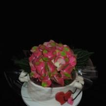 Muttertagstorte Blumentopf Hortensie