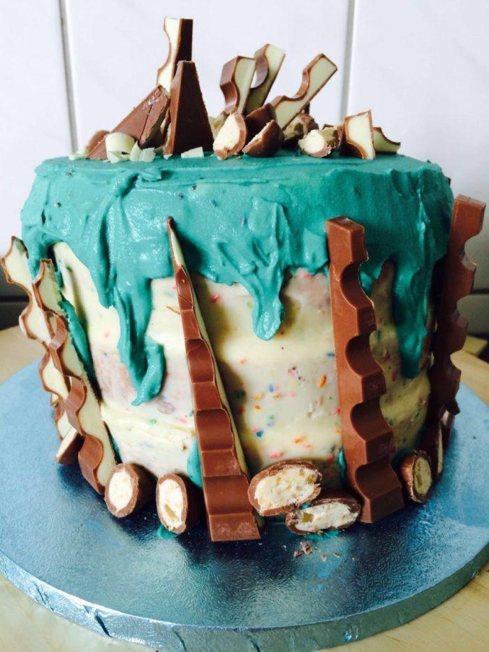 Torte mit Kinderschokolade, Kinderschokoladen Kuchen