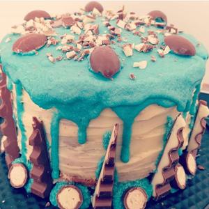 Kinder-Schokoladen-Torte, Kinder-Schokoladen-Kuchen, Schoko Kuchen mit Kindobons, Kinder Schoko Bons