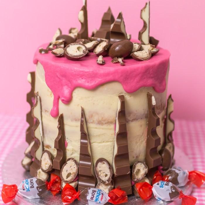 Kinderschokoladentorte, Kuchen mit Kinderschokolade, Schokobonstorte