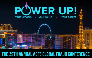 ACFE Fraud Conference Global 2018 power up