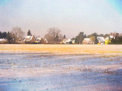 Winterland mit Textur