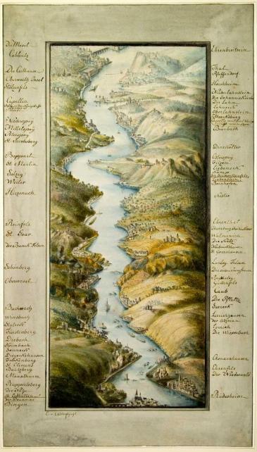 Rheinpanorama von Elisabeth von Adlerflycht