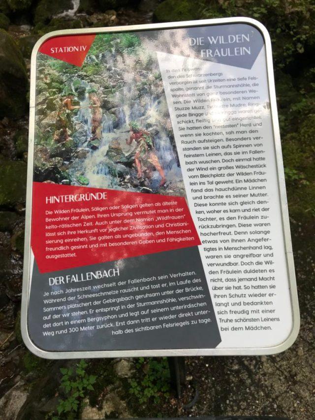 Schild Wilde Frauen Sturmannshöhle Fallenbach